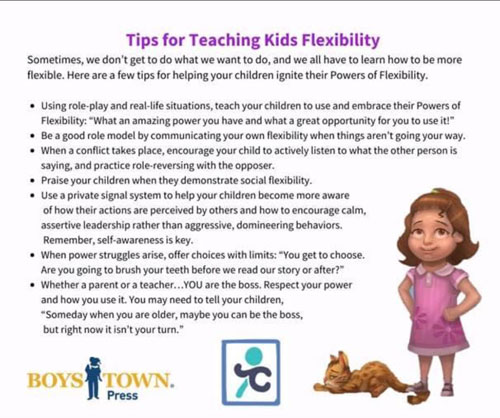 Graphic for teaching kids flexibility