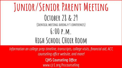 JR/SR Parent Meeting