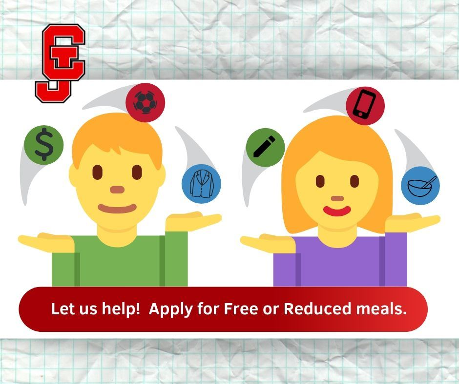 Apply for free or reduced lunch anytime!
