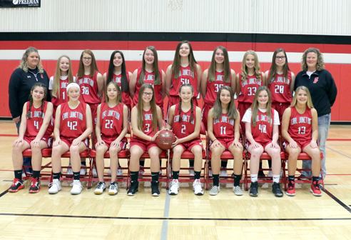 8th Grade Girls Basketball Team Photo