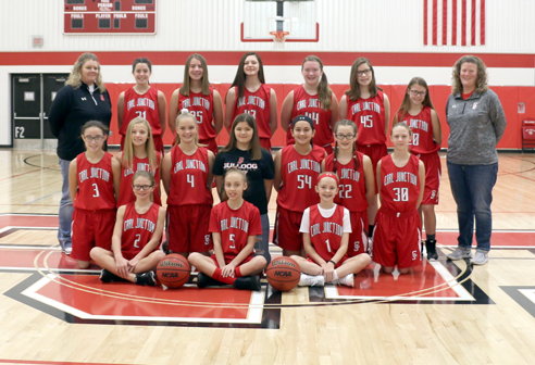 7th Grade Girls Basketball Team Photo