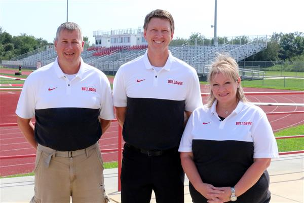 Athletic Training Staff: Bill King, Dr. Russ Kennedy, and Kristin Gubera